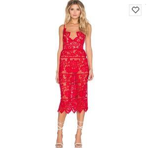 NWT FL&L Gianna Dress Red Hot